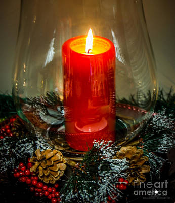 Photograph - Christmas Candle 2 by Grace Grogan