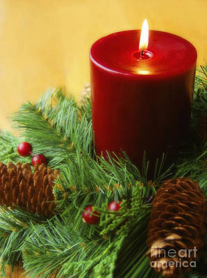 Christmas Candle Art Print by Diane Diederich