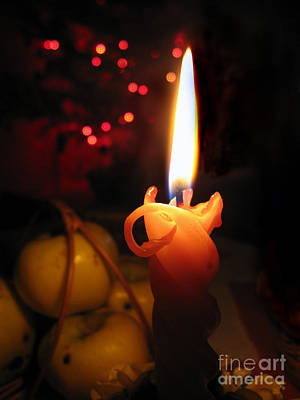 Photograph - Christmas Candle Light by Ausra Huntington nee Paulauskaite