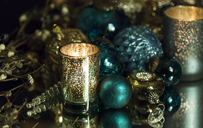 Photograph - Christmas Candles by Amber Kresge