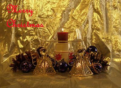 Christmas Candles Art Print