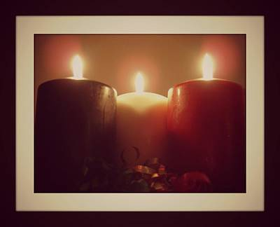 Digital Art - Christmas Candles by Holley Jacobs