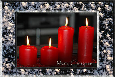 Photograph - Christmas Candles by Randi Grace Nilsberg