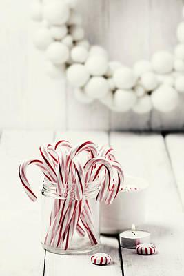Christmas Candy Art Print by Claudia Totir