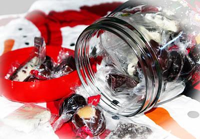 Chocoholic Photograph - Christmas Candy Jar by Cynthia Guinn