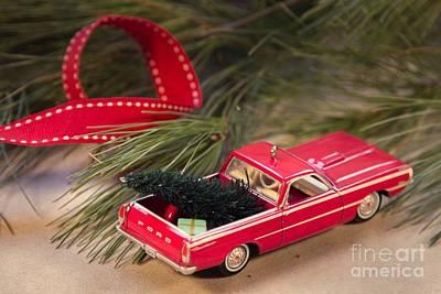 Photograph - Christmas Car by Karin Pinkham