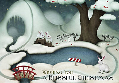 Digital Art - Blissful Christmas by Kathryn McBride