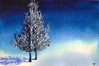 Winter Solstice Painting - Christmas Card 14 by Nelson Ruger
