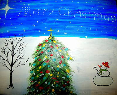 Painting - Christmas Card 2 by Daniel Nadeau