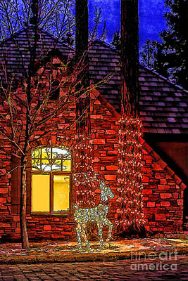 Christmas Card -2014 Art Print by Nancy Marie Ricketts