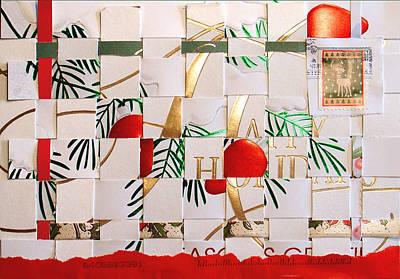 Mixed Media Royalty Free Images - Christmas Card Abstract Royalty-Free Image by Steve Karol