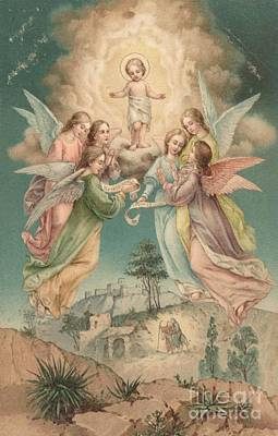 Nativity Painting - Christmas Card by English School