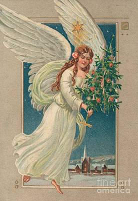 Painting - Christmas Card by German School
