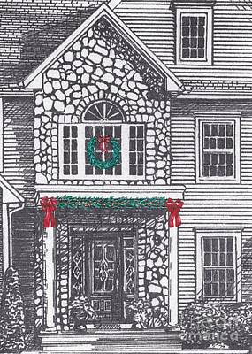 Drawing - Christmas Card Two by Michelle Welles