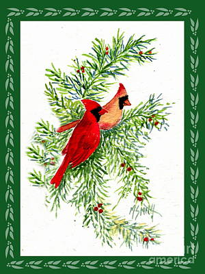 Painting - Christmas Cardinals by Marilyn Smith