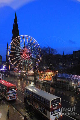 Photograph - Christmas Carnival In Edinburgh by David Grant