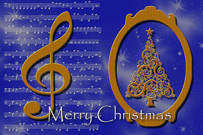 Digital Art - Christmas Carols by Randi Grace Nilsberg