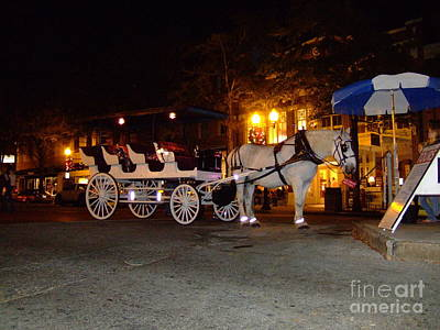 Art Print featuring the photograph Christmas Carriage by Bob Sample