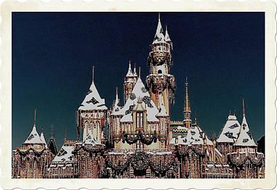 Christmas Castle Art Print by Nadalyn Larsen