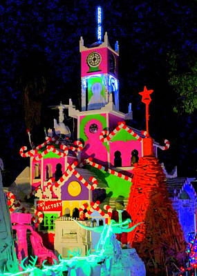 Photograph - Christmas Castle by Randall Weidner