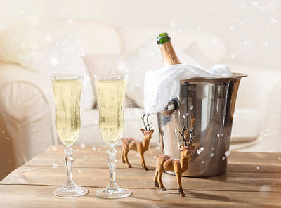 Sofa Photograph - Christmas Champagne by Amanda Elwell