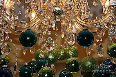 Photograph - Christmas Chandelier by Jolanta Anna Karolska