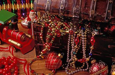 Christmas Chest Full Of Beads Art Print