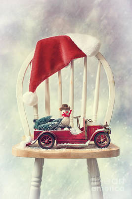 Retro Car Photograph - Christmas  by Amanda Elwell