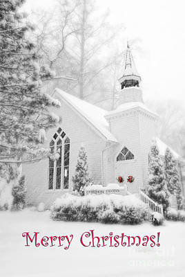 Historic Church Oella Maryland - Christmas Card Art Print