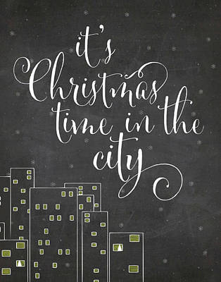 Cities Painting - Christmas City by Amy Cummings