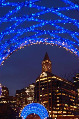 Christmas Coluimbus Park Boston Art Print by James Kirkikis