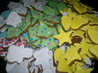Baking Photograph - Christmas Cookies by Mirek Bialy