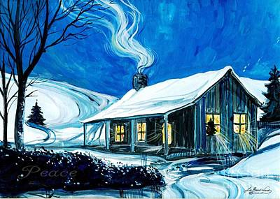 Painting - Christmas Cottage by Lizi Beard-Ward