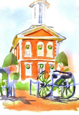 Christmas Courthouse II Original by Kip DeVore