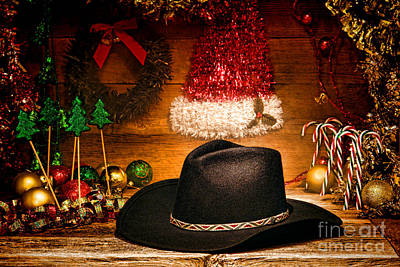 Photograph - Christmas Cowboy Hat by Olivier Le Queinec