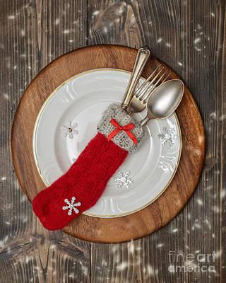 Christmas Cutlery Art Print