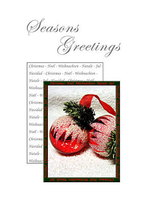 Photograph - Christmas Decoration 1 by Helene U Taylor
