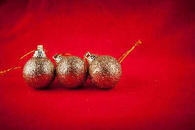 Photograph - Christmas Decorations by Modern Art Prints