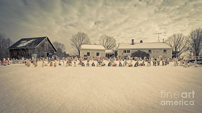 New England Farm Photograph - Christmas Decorations In The Snow by Edward Fielding