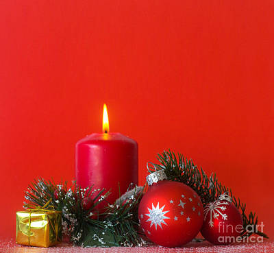 Candle Photograph - Christmas Decorations by Michal Bednarek