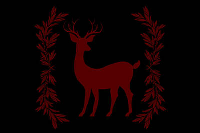 Holidays Digital Art - Christmas Deer  by Chastity Hoff