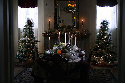 Photograph - Christmas Dinner At The Mansion by Kay Novy