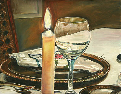 Painting - Christmas Dinner With Place Setting by Jennifer Lycke