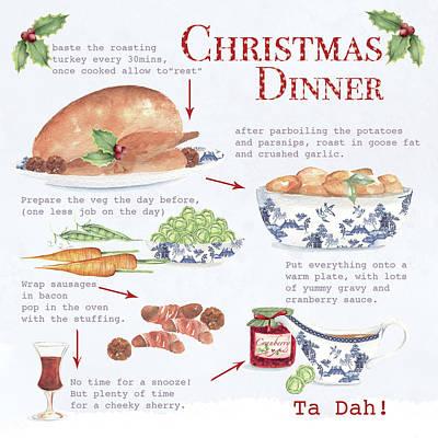 Recipe Painting - Christmas Dinner by P.s. Art Studios
