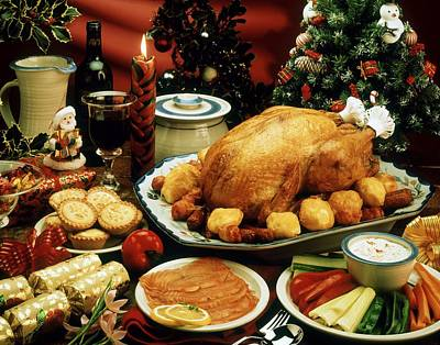 Christmas Dinner Art Print by The Irish Image Collection