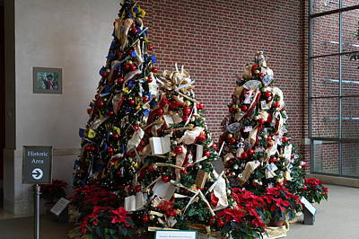 Christmas Display - Mt Vernon - 01131 Art Print