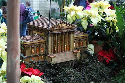 Christmas Display - Us Botanic Garden - 01133 Print by DC Photographer