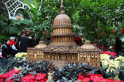 Christmas Photograph - Christmas Display - Us Botanic Garden - 011348 by DC Photographer