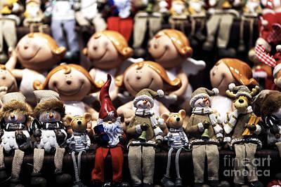 Photograph - Christmas Dolls by John Rizzuto