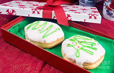 Christmas Jelly Donuts Print by Vizual Studio